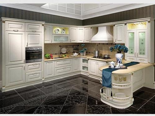 Modern design kitchen cabinets U shape DB1