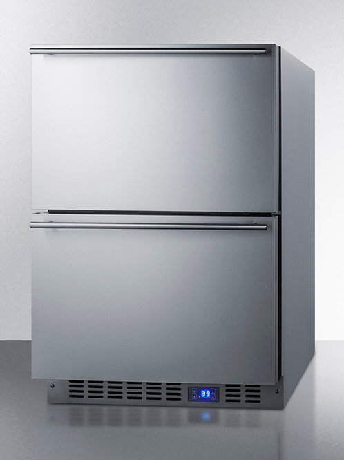 """24"""" Wide Built-In 2-Drawer All-Refrigerator"""