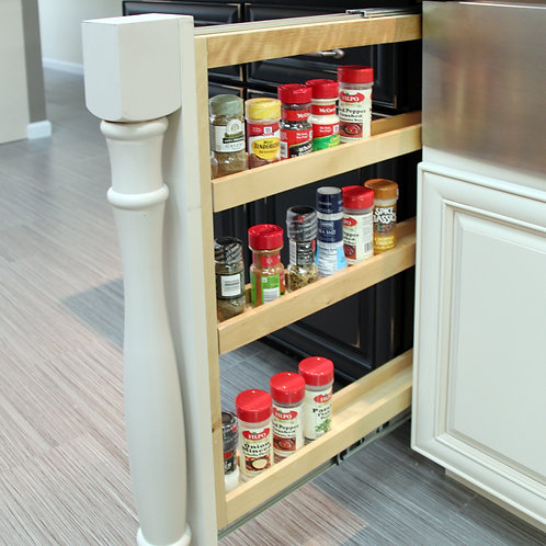 "3"" Wall Filler Pullout with Adjustable Shelves 36'' Height"