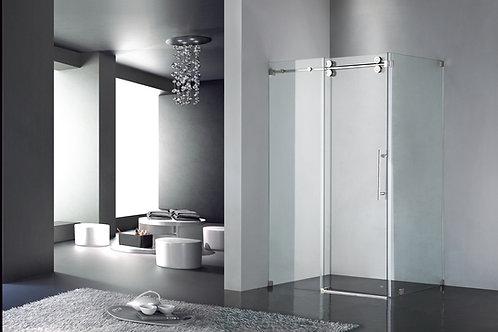 "Luxe Frameless Sliding Shower Door, Fits 48""-60"". Opening, Clear Glass UPC03"