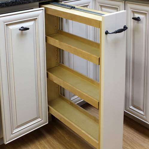"6"" Base Filler Pullout with Adjustable Shelves 36'' Height"