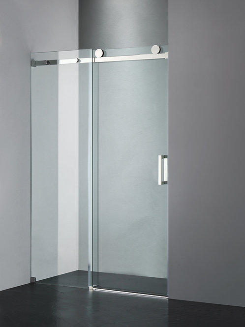 "Luxe Frameless Sliding Shower Door, Fits 48""-60"". Opening, Clear Glass UPC05"