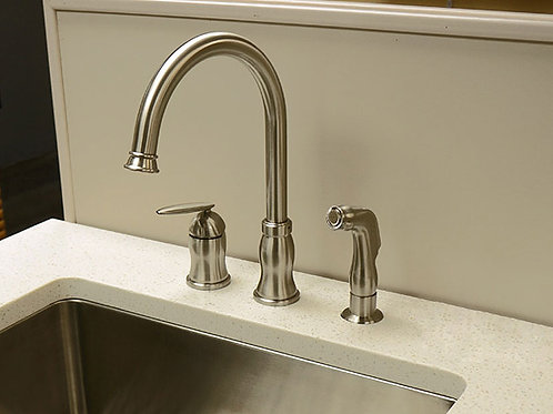 Single Handle Kitchen Faucet  Brushed Nickel 8002 012 02