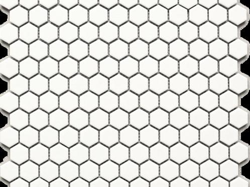 BT-PM02 White tiny hexagon porcelain mosaic