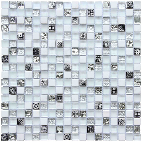 Glass and Stone Mix Mosaic Tile SFG15114