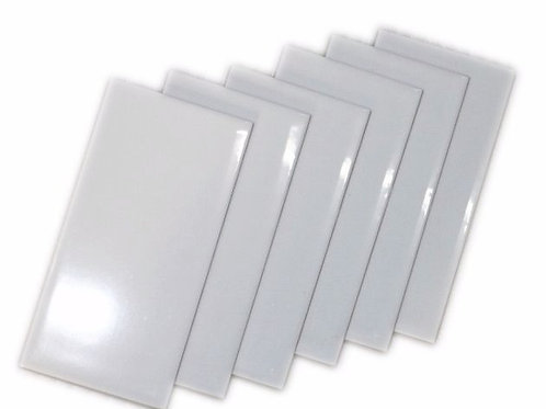 "3x6"" white bevel ceramic subway tiles 3A36"