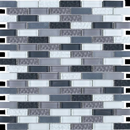 BCD-01 Grey brick glass mosaic tile