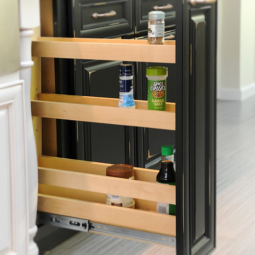 "8"" Base Pullout Organizer with Adjustable Shelves"