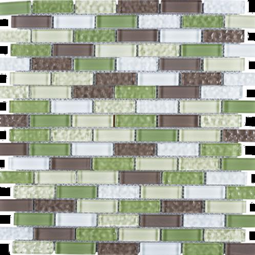 BCD-02 Green brick glass mosaic tile