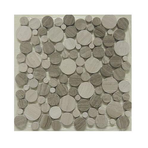 Stone Mosaic Grey Wooden S1900