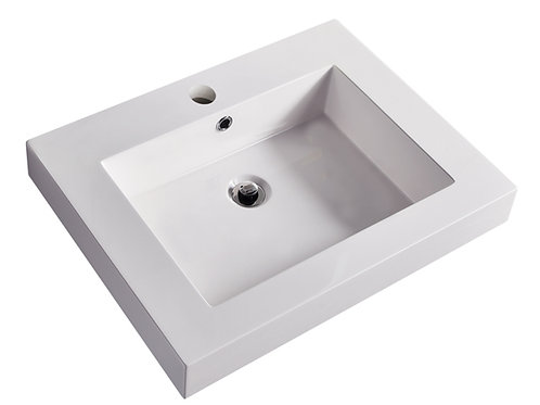 Topmount Bathroom Polymarble Basin 000 2418BP-R
