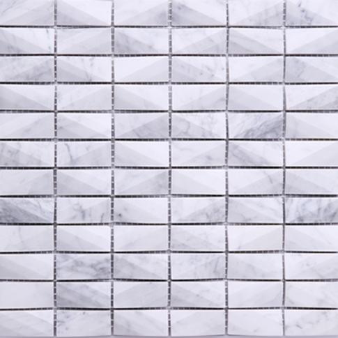 3DCT-01 white cararra 3D cut