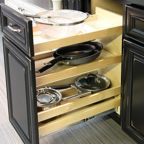 """10"""" Base Pullout Organizer with Adjustable Shelves"""