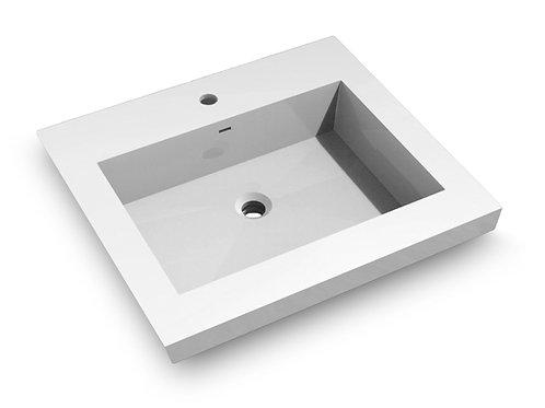 Topmount Bathroom Polymarble Basin 000 2522BP
