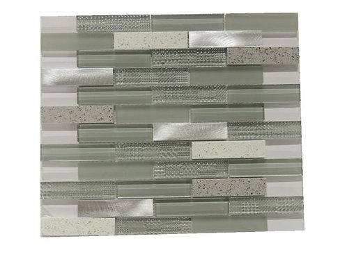 Glass Aluminum Quartz Mosaic G0500