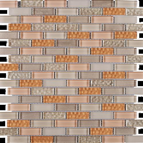 BCD-05 Beige and orange brick glass mosaic tile