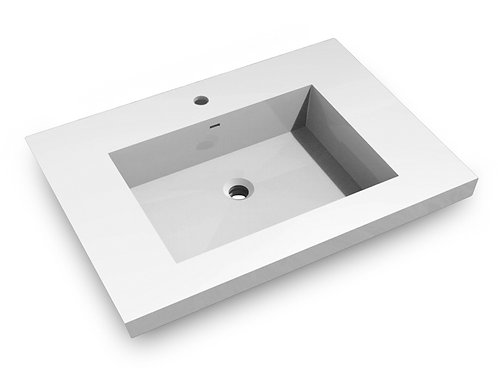 Topmount Bathroom Polymarble Basin  000 3122BP