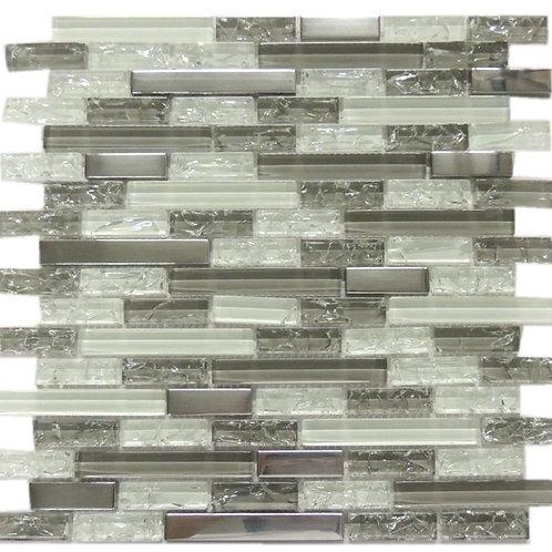 Ice crakcle Glass Metal Mosaic Tile G01