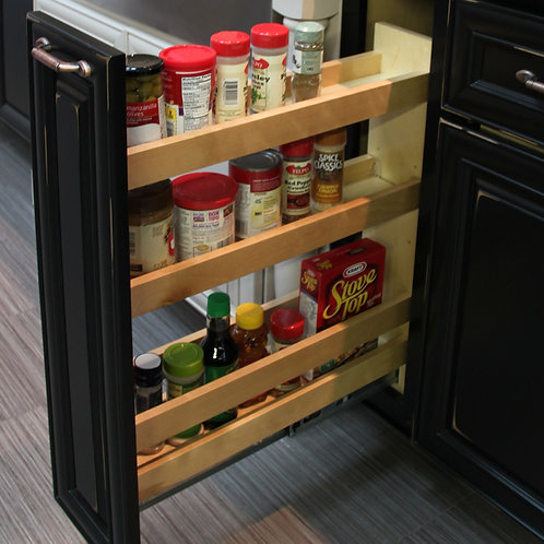 "5"" Base Pullout Organizer with Adjustable Shelves"