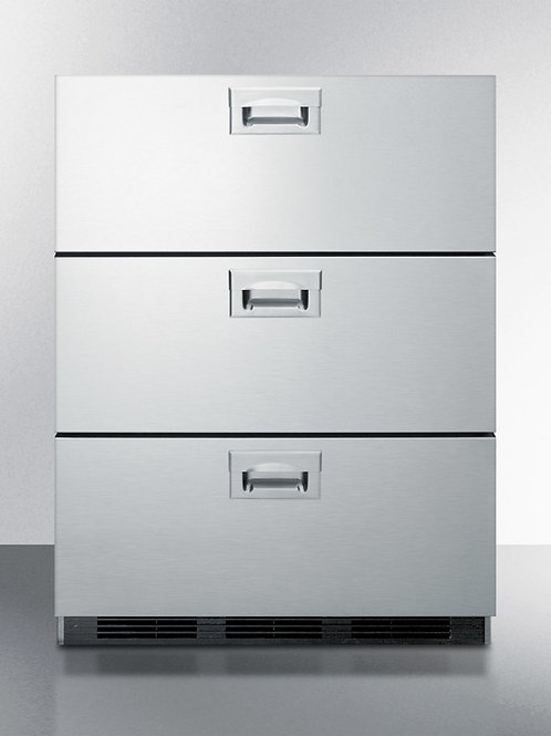 "24"" Wide 3-Drawer All-Refrigerator, ADA Compliant"