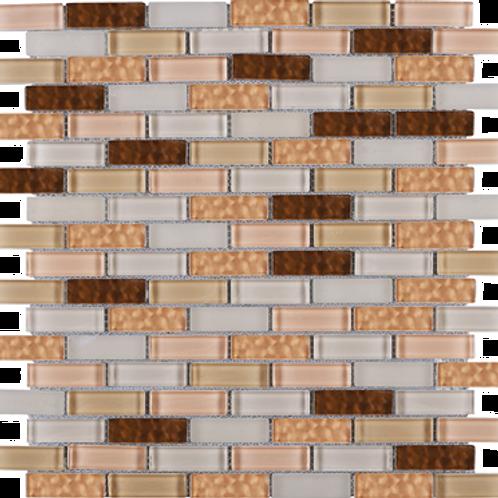 BCD-03 Cinnamon brick glass mosaic tile