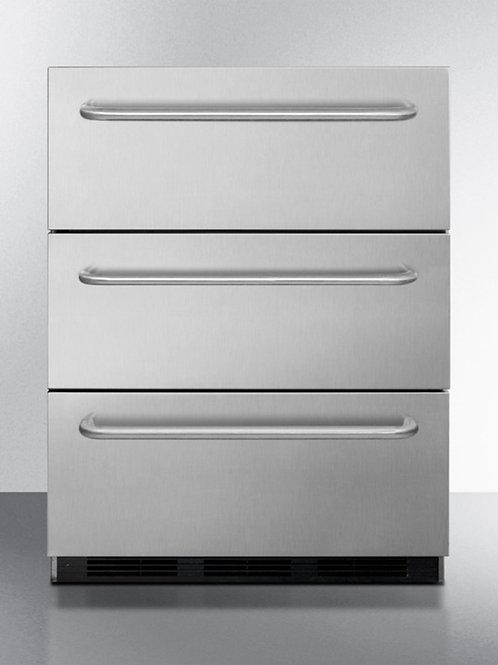 "24"" Wide 3-Drawer All-Refrigerator, ADA Compliant"