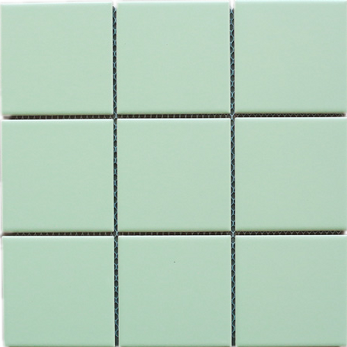 BT-PM10 4x4 green porcelain mosaic (Matt)