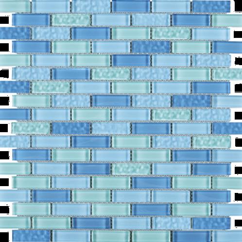 BCD-08 Maldives blue brick glass mosaic tile