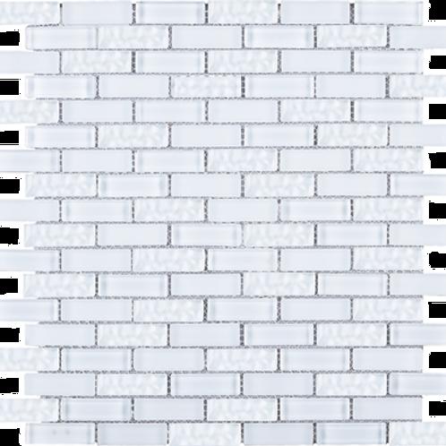 BCD-04 Crystile White brick glass mosaic tile