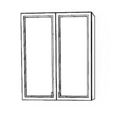 WALL CABINETS  DOUBLE DOOR