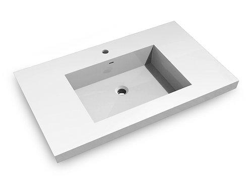 Topmount Bathroom Polymarble Basin 000 3722BP