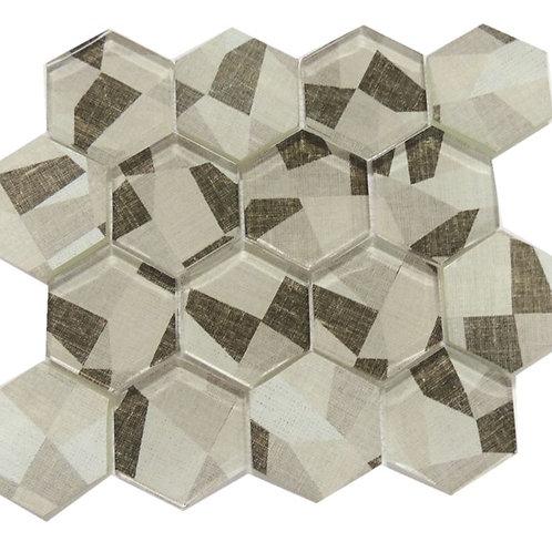 Glass Ink Jet  Mosaic Tile JI08