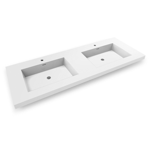 Topmount Bathroom Polymarble Basin 000 6122BP