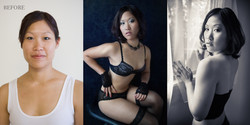 before after Canberra glamour beauty makeover photography boudoir-6