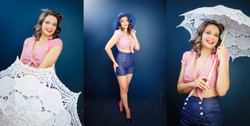 pinup girl makeover photography