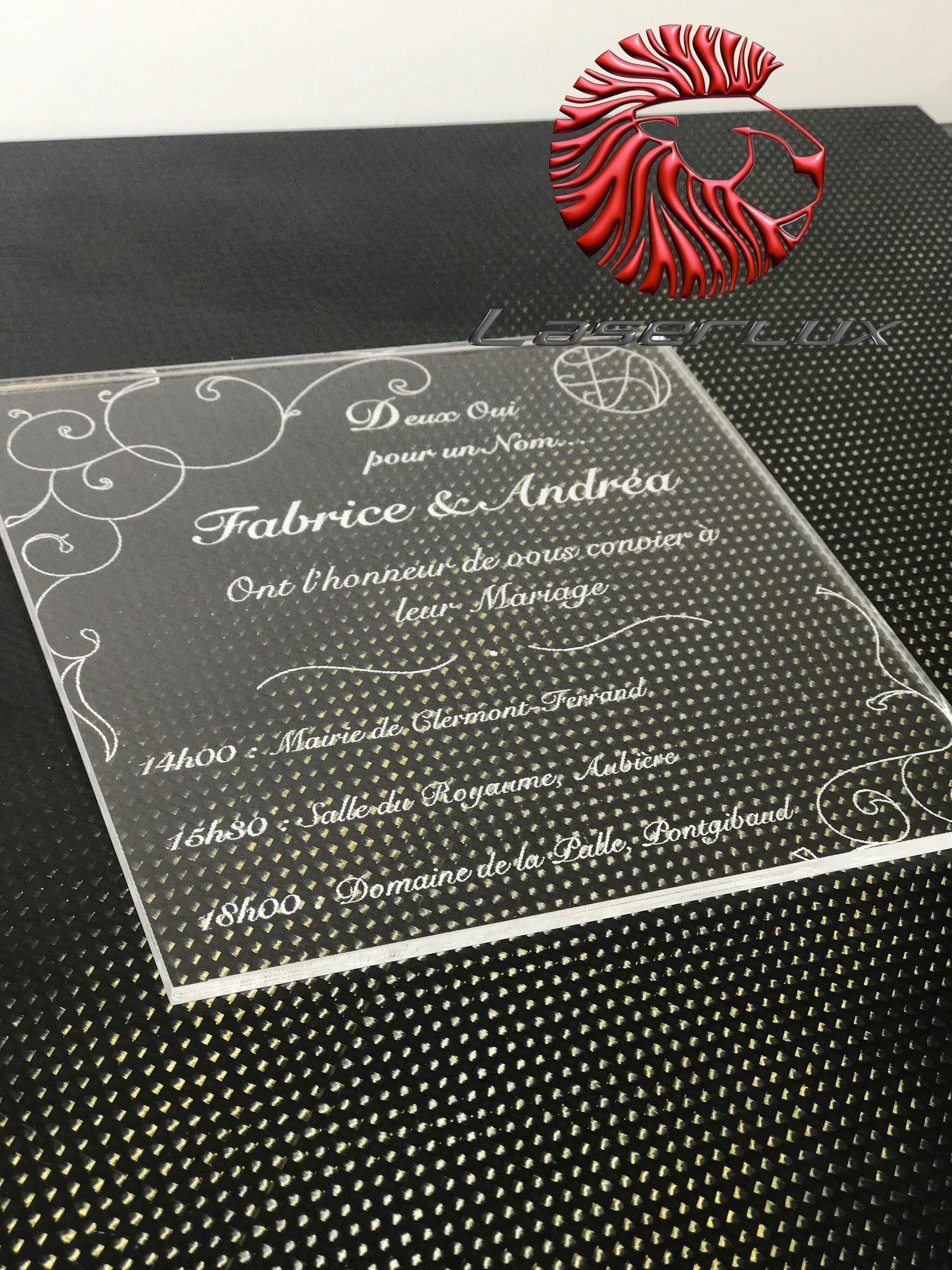 gravure et decoupe laser plexiglass fair
