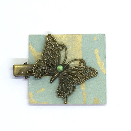 Clip Green Butterly