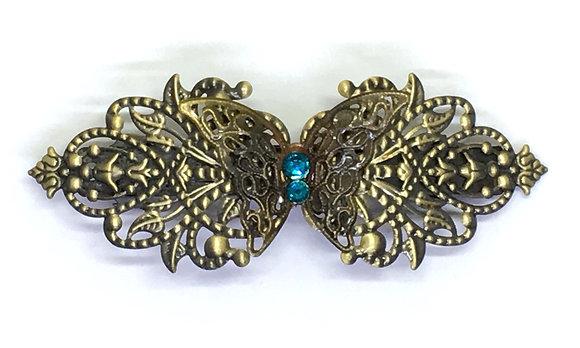 Hair Clip Blue Butterfly