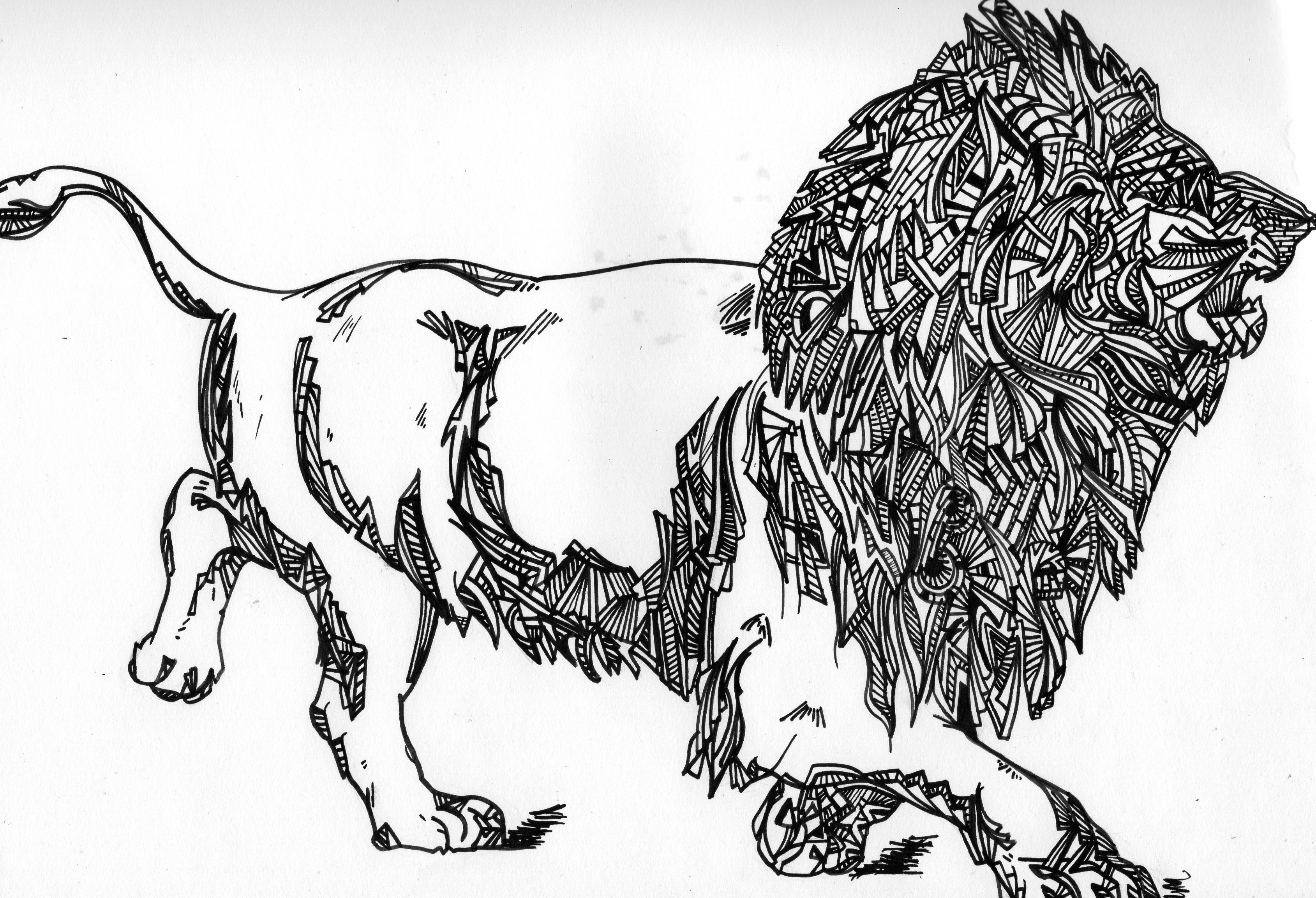 Pop eye lion