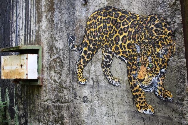 Mosko - fresque leopard