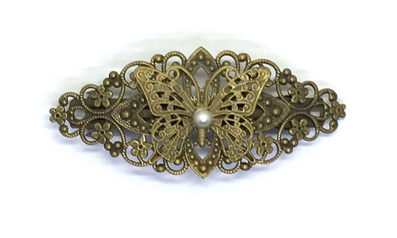 Hair Clip Pearl Butterfly