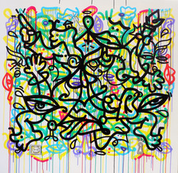 Louis Bottero calligraphie graffiti