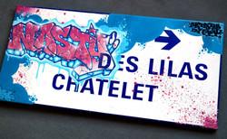 Nasty graffiti metro chatelet