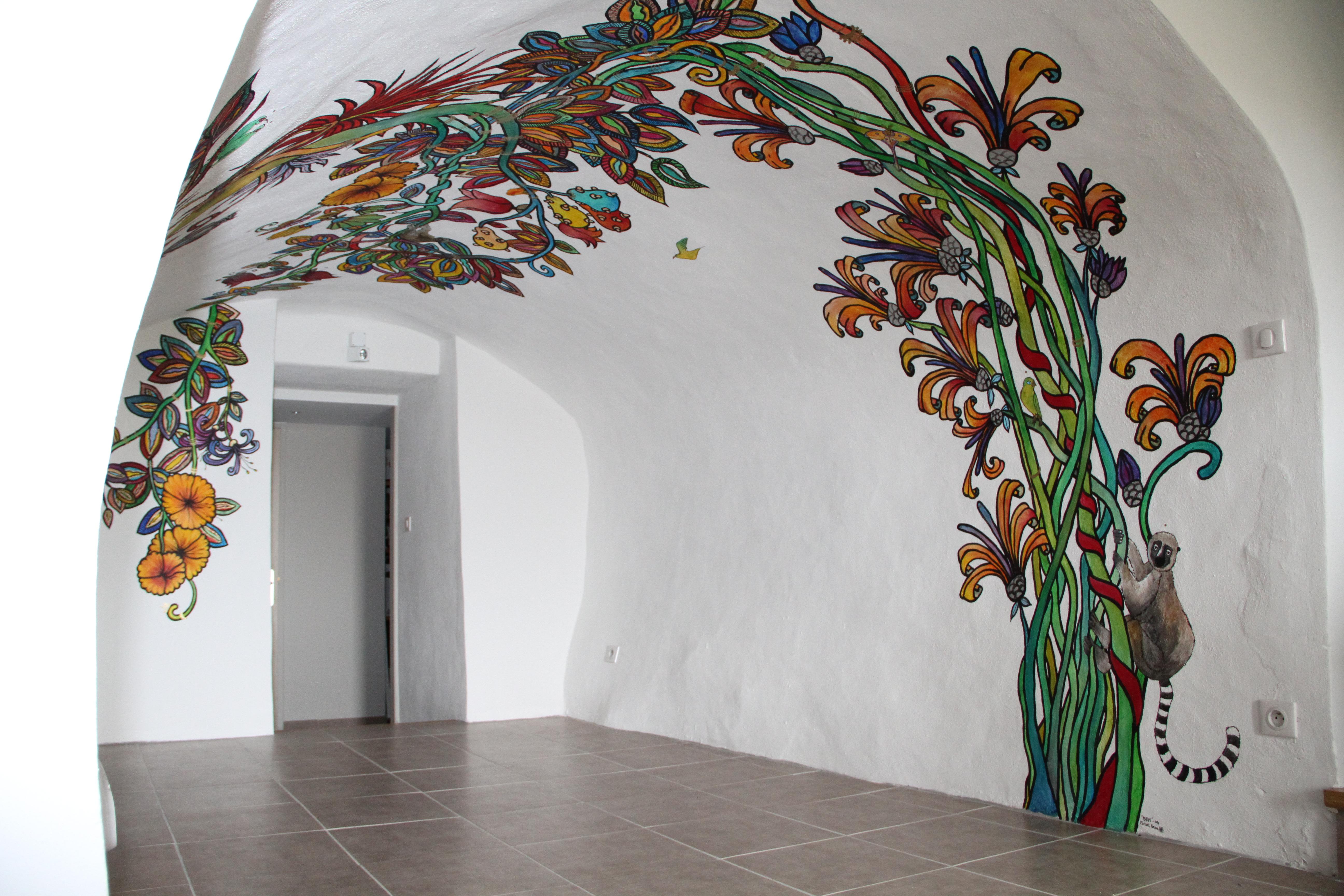 Michael Relave fresque fleurs