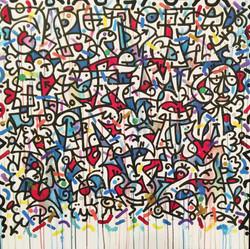 Louis Bottero calligraphie couleurs