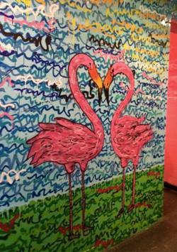 Pimax flamants roses peinture