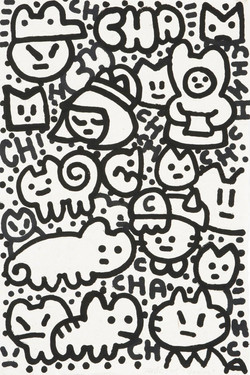 Chanoir chats noir blanc