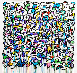 Louis Bottero graffiti couleur