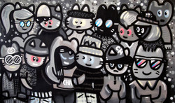 Chanoir fresque chats