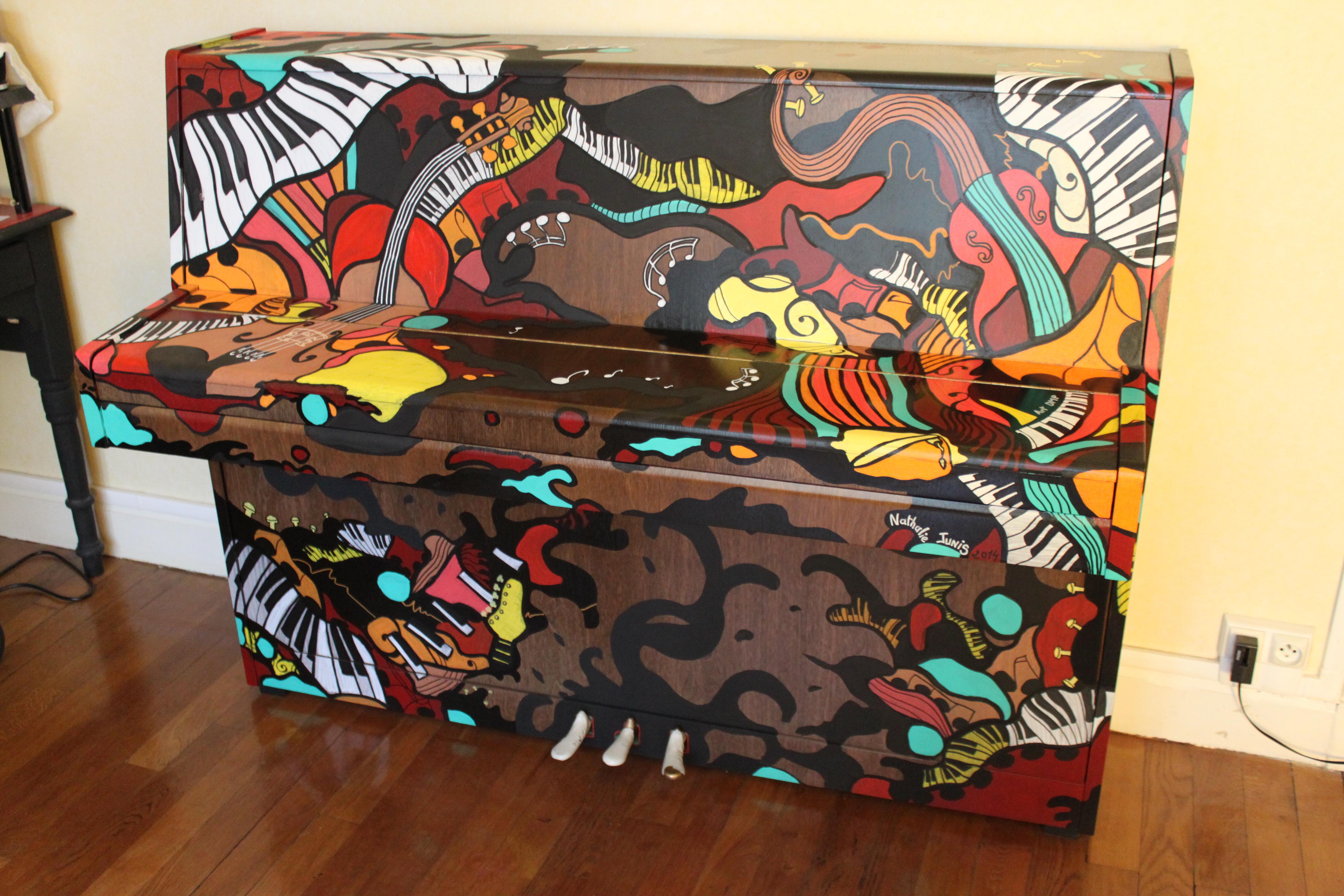 Nathalie Junis Art Dmp fresque piano